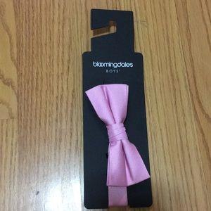 Pink real Bloomingdales bow tie